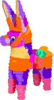 Colorful animated pinata