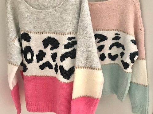 Jersey tricolor leopardo