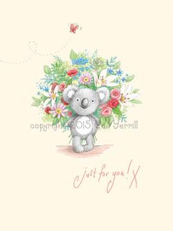 katy koala bunch of flowers 001