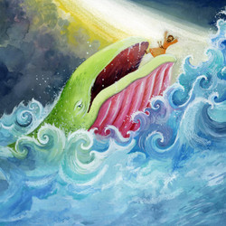 Being eaten by a whale_illustration_gail yerrill