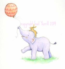 Elfump-and-Tickle_holding-a-balloon_cute_gail-Yerrill