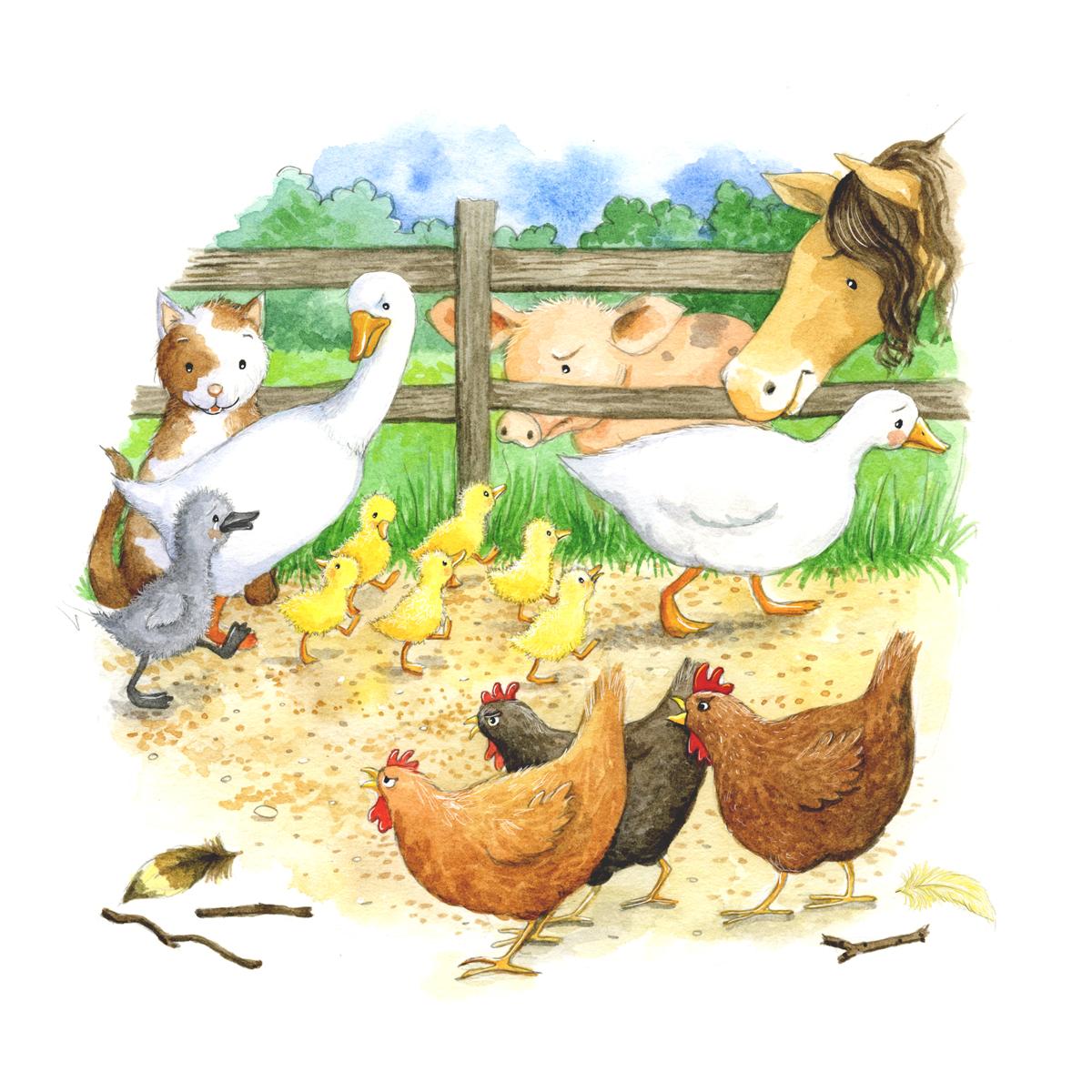 The ugly duckling_farm animals making fun_gail yerrill