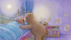 Mummy bear and baby bear bedtime_gail yerrill_portfolio