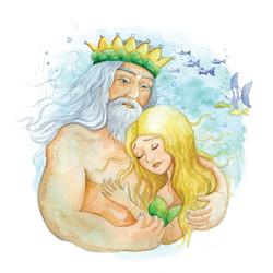 Mermaid and King of the sea_portfolio_gailyerrill