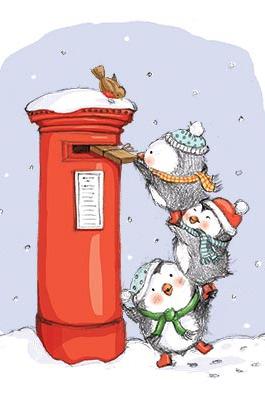 Penguins-posting-letter