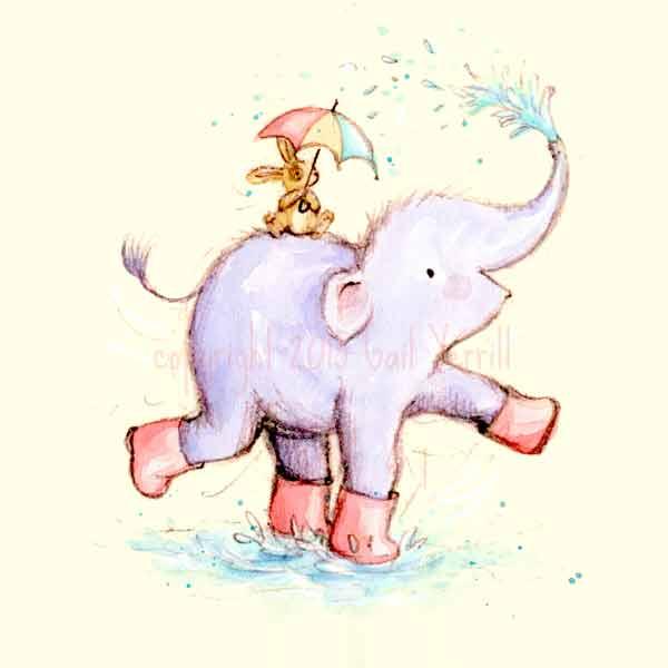Elefump-and-Tickle_splashing-around_cute_gail-yerrill