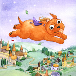 The tinder box_copper dog flying with princess_hans christian anderson_gail yerrill