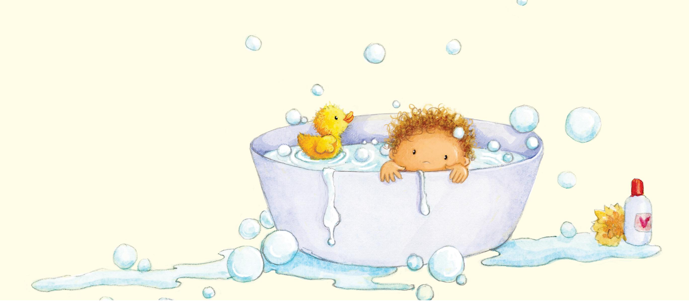 baby in a tin bath_illustration_gail yerrill