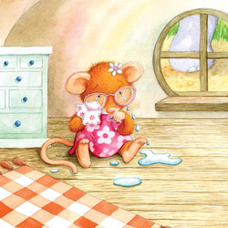 A friend for Mouse_portfolio_gail yerrill_mouse crying