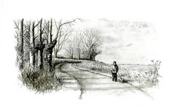 Out-for-a-stroll_wood-end_gail-yerrill