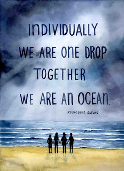 Individually We are one Drop