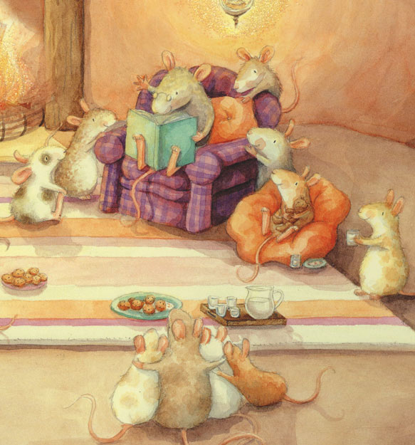 mice listening to story
