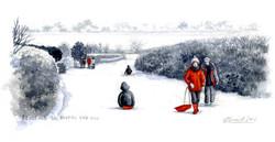 sledding-on-bourne-end-hill_wood-end_gail-yerrill