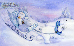 The Snow Queen_hans christian anderson_stealing the little boy_gailyerrill