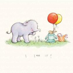 Elfump-and-Tickle_Getting-a-present_cute_gail-Yerrill