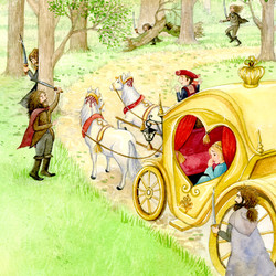 The Snow Queen_hans christian anderson_golden carriage held up by bandits_gailyerrill