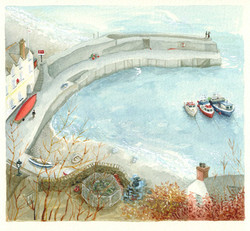 Lovers-at-Clovelly_watercolour-painting_seaside_gail-yerrill