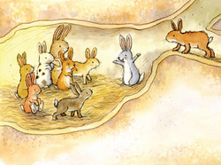 Rabbits in the burrow_gail yerrill_portfolio