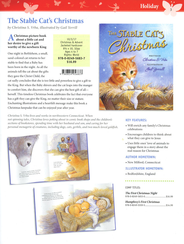 Promo mag page for 'The Stable Cat's Christmas' coming out in the Autumn!