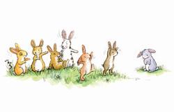 Rabbits making fun_gailyerrill_portfolio