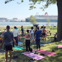Yoga on the Governors Island