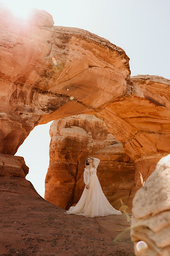 Utah Bridal Portraits in National State Park
