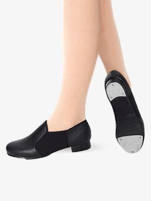Black Slip On Tap Shoe