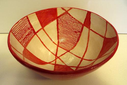 קערת משולשים אדום לבן