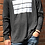 Thumbnail: charcoal grey unisex light weight hoodie with white logo