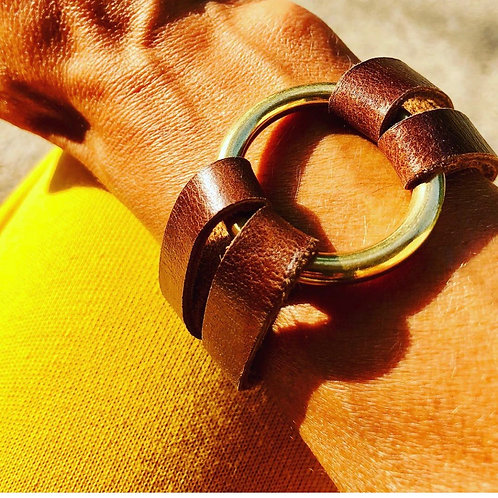 sliced ring bracelet