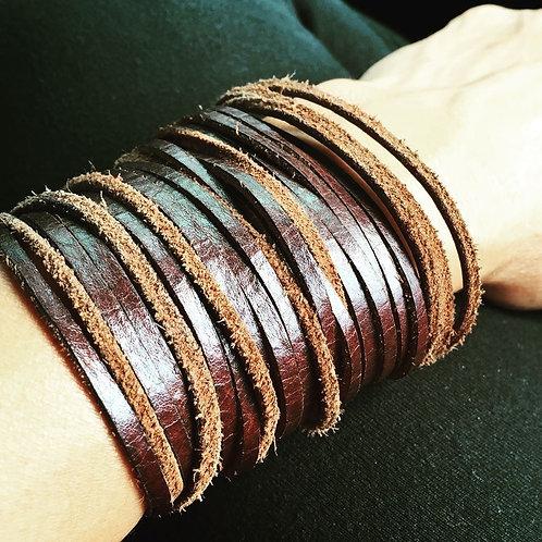 original leather sliced cuff