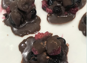 Chocolate Berry Clusters