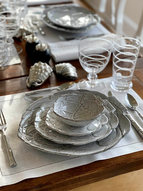 White Artichoke Bowls by Vista Alegre