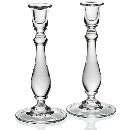 Meryl Glass Candlesticks - Pair