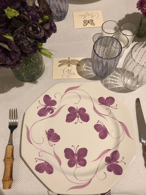 Este Ceramiche Butterfly Plate