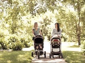New Moms Walking Together