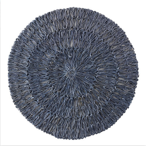Round Blue Placemat
