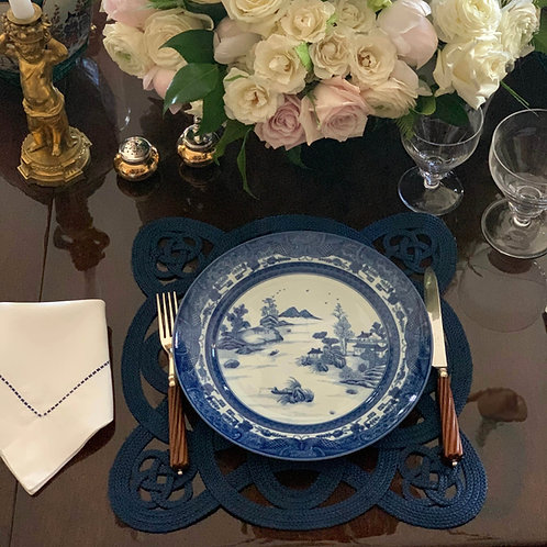 Dagger Mountain Blue and White Plate