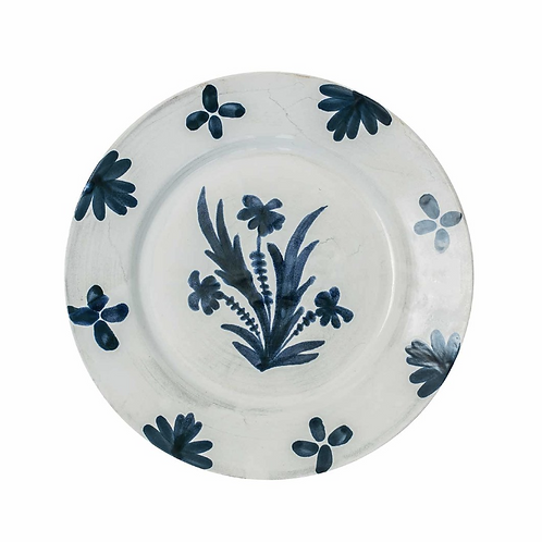 Blue & White Dinner Plate