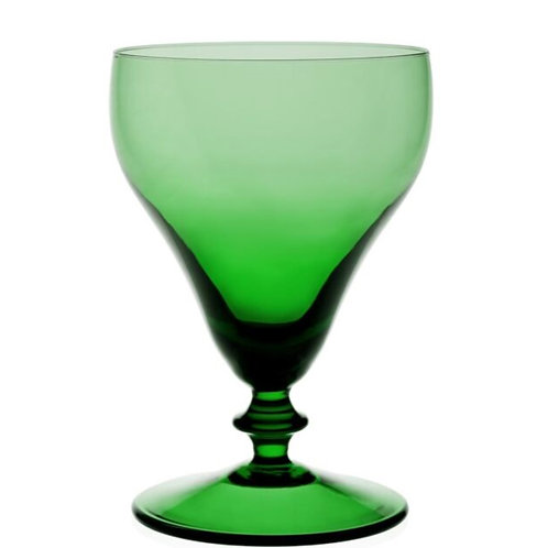 Holly Green Goblet by William Yeoward