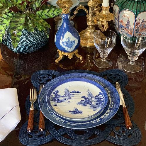 Dagger Mountain Blue and White Dessert Plate