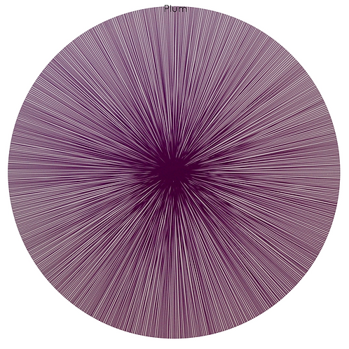 Shadow Lines Placemat in Plum by Tisch