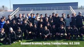 Oakwood Academy Spring Training Camp 2016 in North Carolina