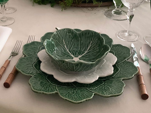 Cabbage Leaf Charger or Buffet Plate