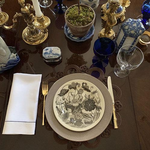 Set of Six Botanical Wedgewood Plates