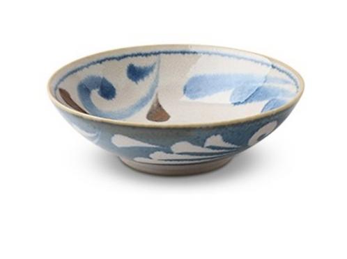 Rustic Blue Vines Bowl By Miya
