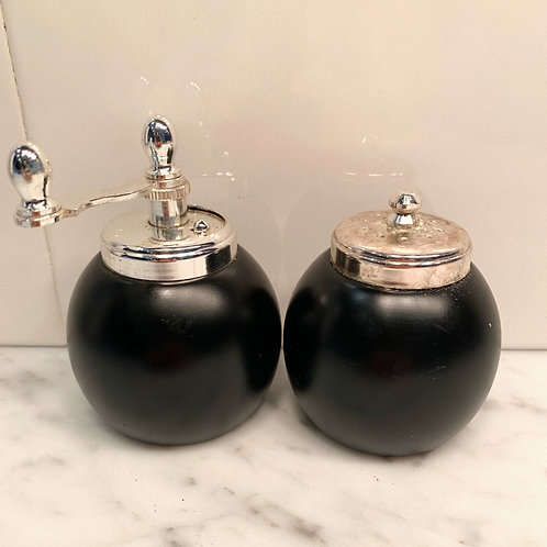 Classic Brown Salt Shaker and Pepper Mill