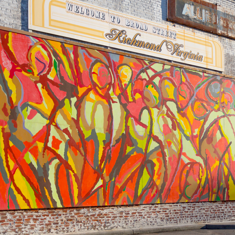 Colorful art in the district