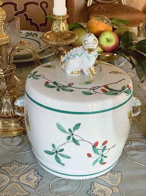 Famille Verte Fu Dog Jar -Large by Mottahedeh