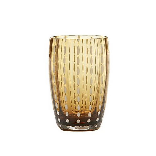 Zafferano Beverage Perle in Amber- Set of Six